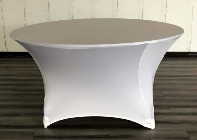 Spandex Redondo blanco