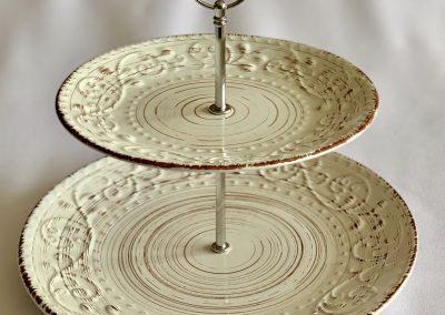 Base de cup cakes ceramica alto 25 cm diametros 28 y 21 cm