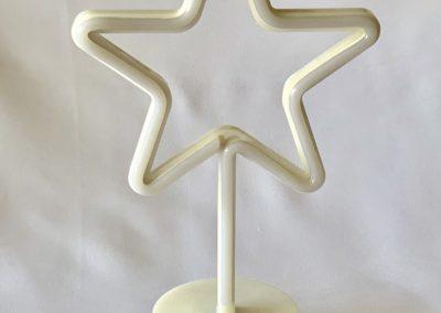 estrella de luz alto 31 cm, estrella 18 cm